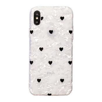 极步苹果iphone手机壳贝壳纹软壳女
