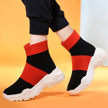 女新款休闲嘻哈网红针织袜子鞋