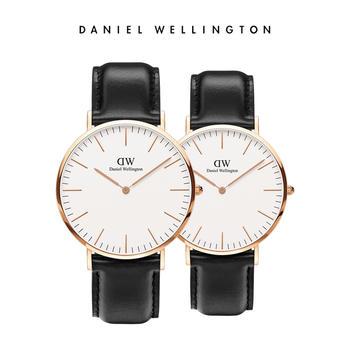 DW 情侣百搭白盘黑色皮带手表40mm/36mm