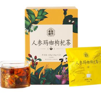 老金磨方 人参玛咖枸杞茶120g 组合茶包小袋装