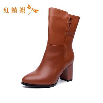 红蜻蜓中筒女靴C6207122H