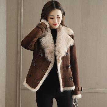 落雁莎韩版时尚短款毛呢外套