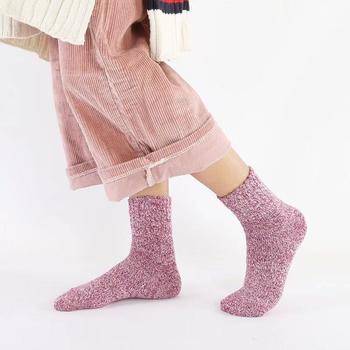 韩尚莯足羊绒毛圈女中筒袜5双装