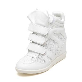 鞋柜韩版亮片魔术贴短靴1115505002