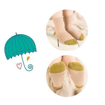 柳咖秋冬儿童袜子纯棉中筒十双装