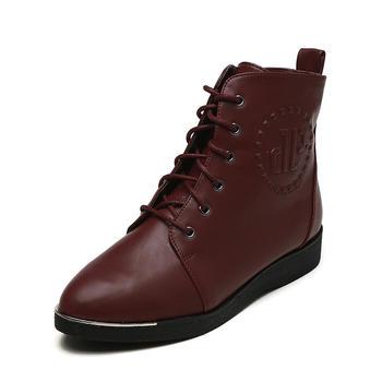 鞋柜欧美尖头系带短靴1115505023