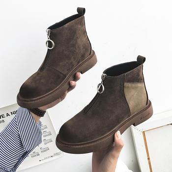 ADK新款韩版百搭英伦风短筒靴