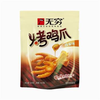 无穷 烤鸡爪(蜂蜜味)320g/袋