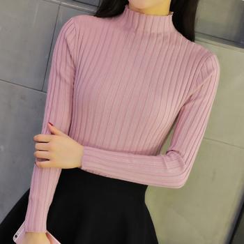 宠客秋冬韩版半高领针织衫毛衣女