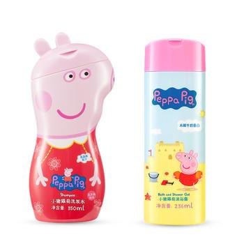 小猪佩奇洗发水+沐浴露组合装温和无刺激