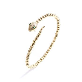 CROCUS个性创意时尚美杜莎灵蛇设计中性款开口手镯45421
