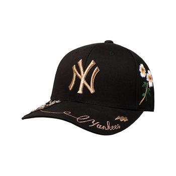 【gucci合作款】杨幂同款MLB韩版刺绣蝴蝶花蜜蜂帽子
