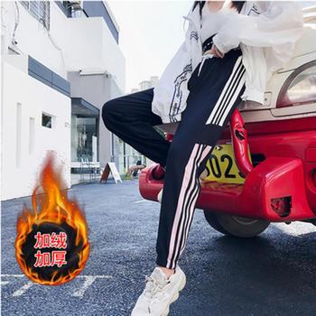 兰菲加厚加绒运动裤女韩版宽松