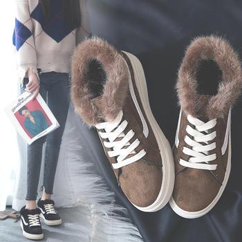网红同款 百搭毛毛保暖学生板鞋