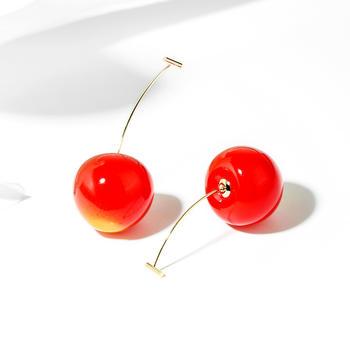戴拉  可爱甜美红樱?#39029;?#27454;耳环