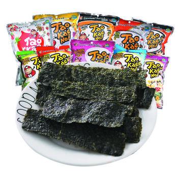 泰国进口零食老板仔炸海苔片32g*3袋