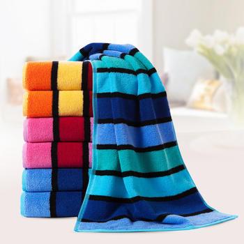 金号纯棉加厚条纹成人大毛巾3条