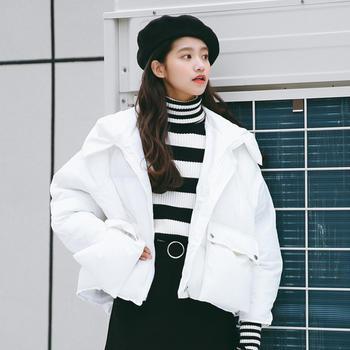 衣织优美  韩版宽松加厚连帽棉服