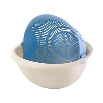 Ymer创意时尚洗菜双层沥水瓜果蓝