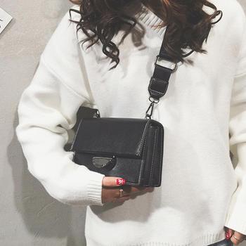 莫妮卡简约小方包时尚单肩斜挎包