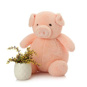 柏文熊粉红小猪猪羽绒棉毛绒玩具