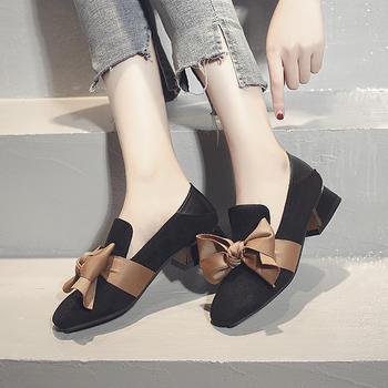 慕沫新款单鞋女甜美低跟小皮鞋女