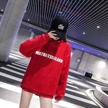韩版潮牌加绒街头风个性女装B8112