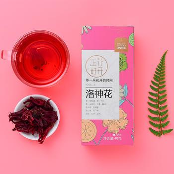 简品洛神花茶玫瑰茄花草茶40g