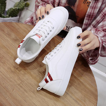 慕沫新款单鞋韩版系带休?#24615;?#21160;鞋