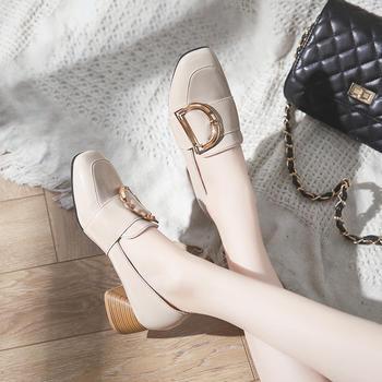 慕沫春秋单鞋女方跟?#25351;?#32599;马鞋女