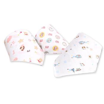意嬰堡 10條裝印花紗布口水巾圍嘴