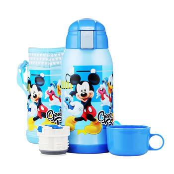 儿童双杯盖两用吸管保温壶