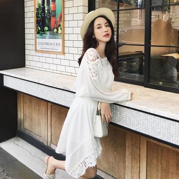 张大奕韩版蕾丝?#36824;?#21017;小清新套装