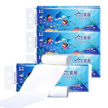 奕辰卫生纸无芯卷纸原生木浆纸巾