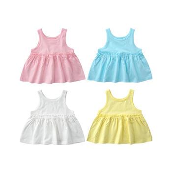 minizone纯色女童吊带背心吊带裙