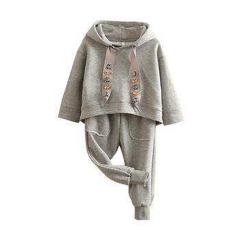 贝壳元素春女童卫衣运动套装tz4262