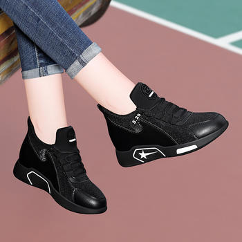 韩版内增高女士秋季百搭运动鞋