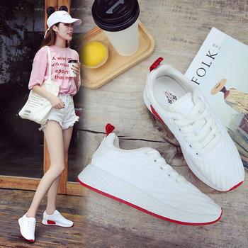 奥古女鞋夏季布韩版短靴低帮鞋休闲运动小白板鞋