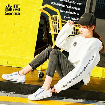 森马板鞋女小?#20180;?019春季新款韩版系带休闲鞋百搭