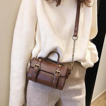 雅涵新款女包时尚钳扣手提单肩包
