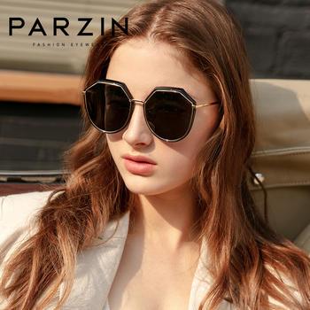 帕森偏光太阳镜 女士金属多边形大框潮流墨镜驾