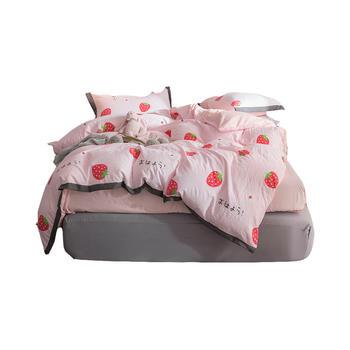 明瑟mingse印花水洗棉四件套甜莓