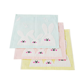 AUSTTBABY 婴儿纯棉兔子方巾三条装