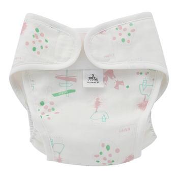 欧孕宝宝尿布裤纯棉防水透气尿布兜两条装