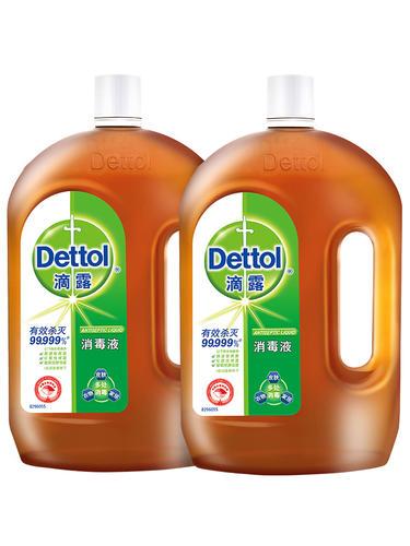 滴露消毒液1.8L*2送洗手液送擦手巾_滴露(Dettol)居室清洁