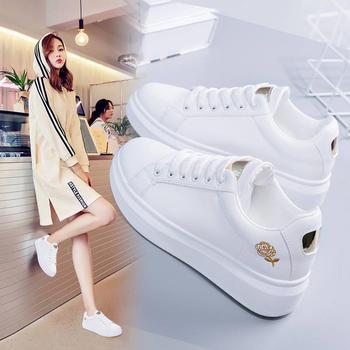 CONGC刺绣小白鞋女新款时尚韩版白鞋百搭休闲