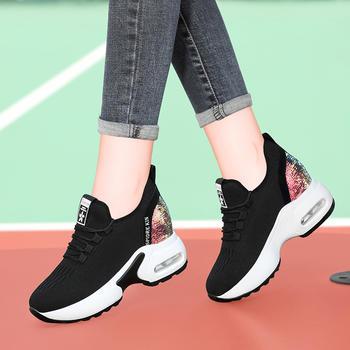运动鞋女鞋平底内增高厚底休闲鞋