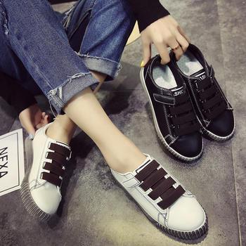 佑黛女鞋韩版新款休闲鞋学院风厚底帆布鞋平底鞋女鞋