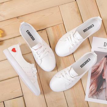 CONGC女春季2019新款百搭韩版小白鞋休闲板鞋潮