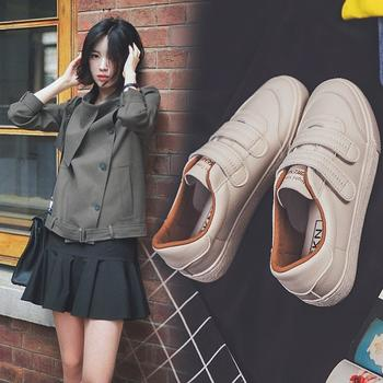 CONGC春季2019新款百搭魔术贴小白鞋韩版板鞋